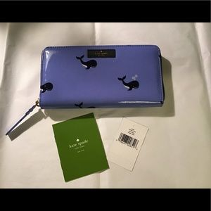 Kate Spade Ned's daycation whale wallet, NWT